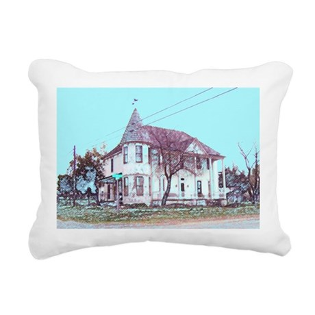 Old Corner House Rectangular Canvas Pillow