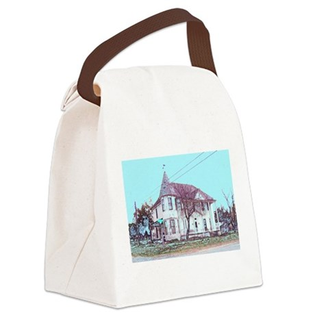 Old Corner House Canvas Lunch Bag