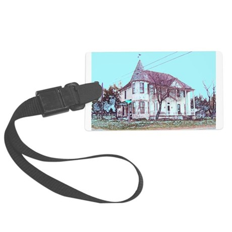 Old Corner House Large Luggage Tag