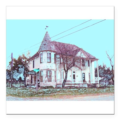 "Old Corner House Square Car Magnet 3"" x 3"""