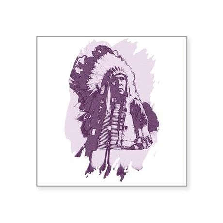 "indian1esq.jpg Square Sticker 3"" x 3"""