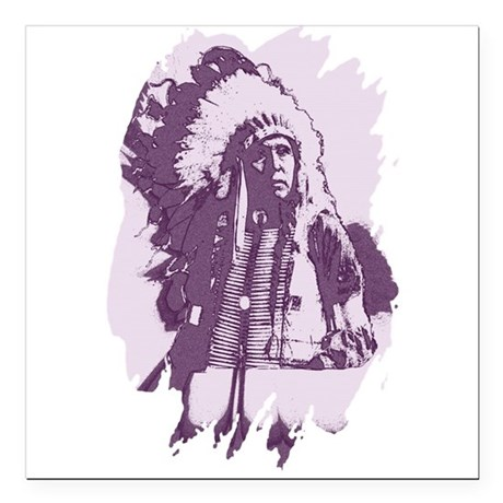 "indian1esq.jpg Square Car Magnet 3"" x 3"""