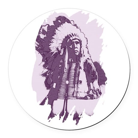 indian1esq.jpg Round Car Magnet