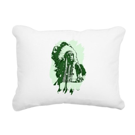 indian1csq.jpg Rectangular Canvas Pillow