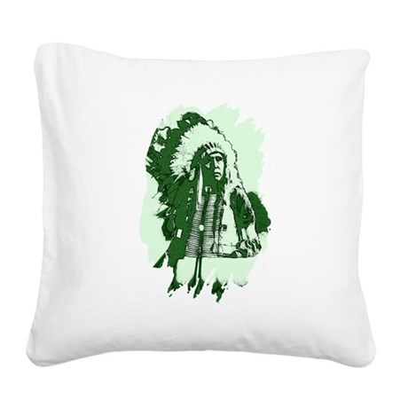 indian1csq.jpg Square Canvas Pillow