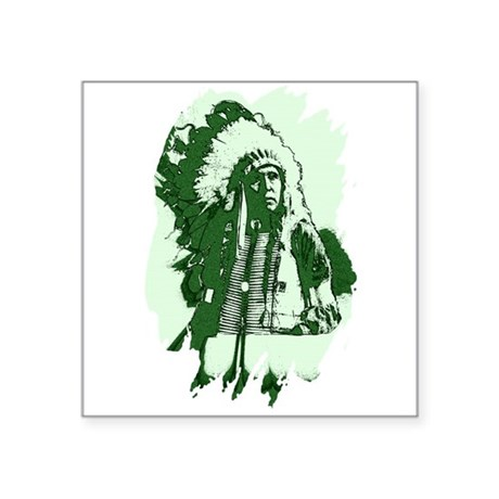 "indian1csq.jpg Square Sticker 3"" x 3"""