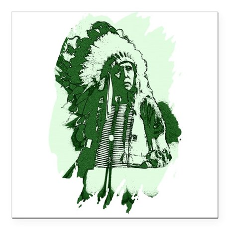 "indian1csq.jpg Square Car Magnet 3"" x 3"""