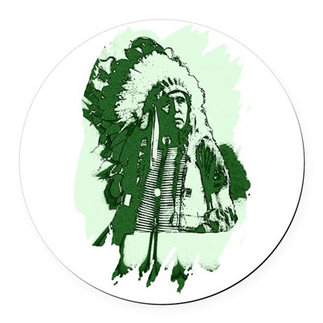indian1csq.jpg Round Car Magnet