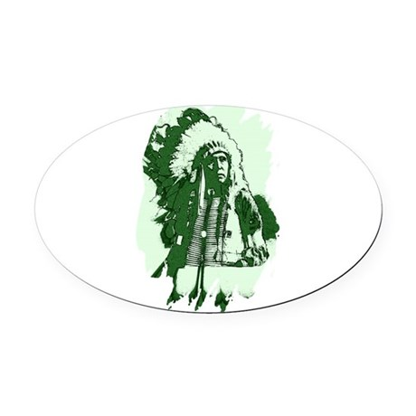 indian1csq.jpg Oval Car Magnet
