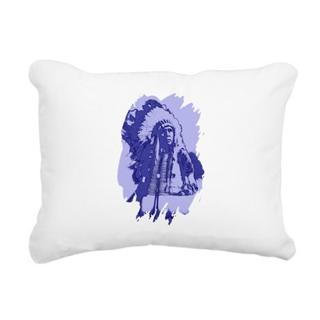 indian1bsq.png Rectangular Canvas Pillow