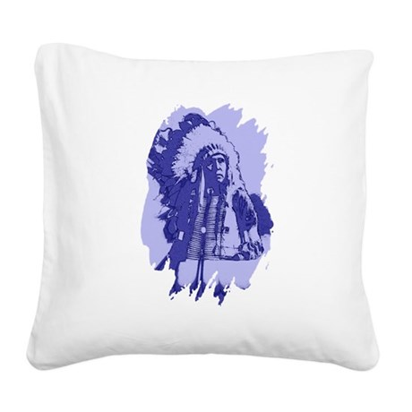 indian1bsq.png Square Canvas Pillow