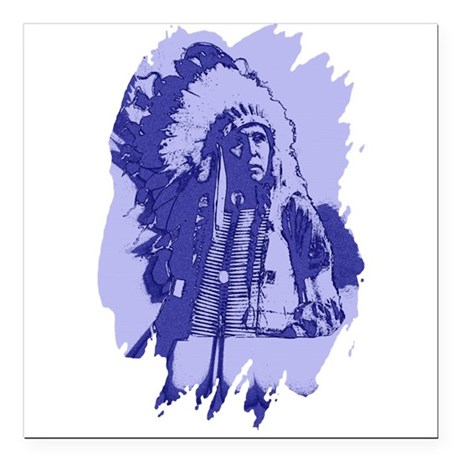 "indian1bsq.png Square Car Magnet 3"" x 3"""