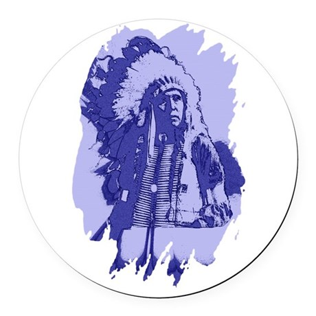 indian1bsq.png Round Car Magnet