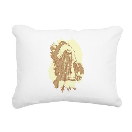 indian1.png Rectangular Canvas Pillow