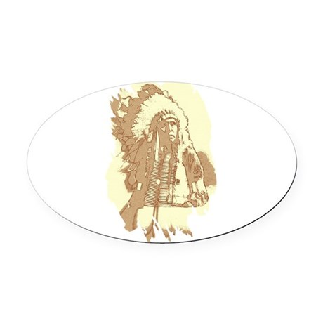 indian1.png Oval Car Magnet