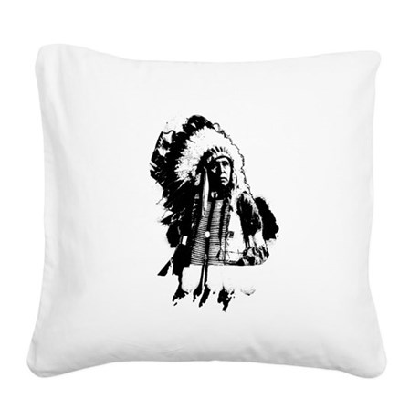 indian1g.png Square Canvas Pillow