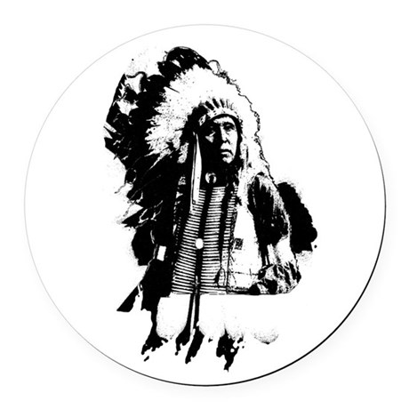 indian1g.png Round Car Magnet