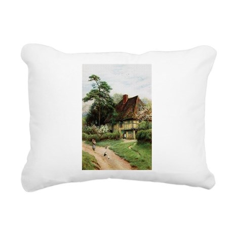 cottage1.png Rectangular Canvas Pillow