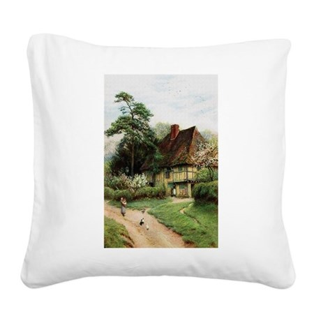 cottage1.png Square Canvas Pillow