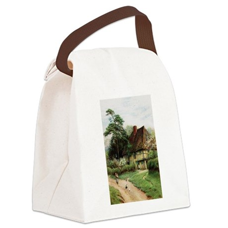 cottage1.png Canvas Lunch Bag