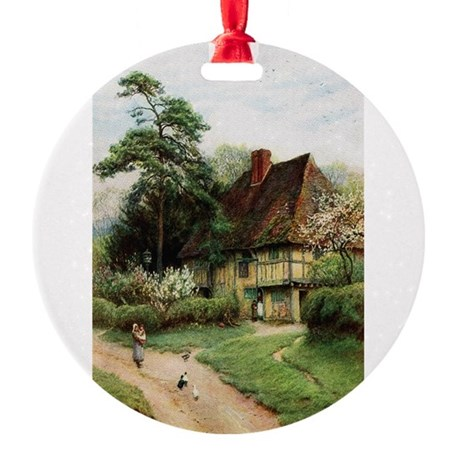 cottage1.png Round Ornament