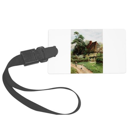 cottage1.png Large Luggage Tag