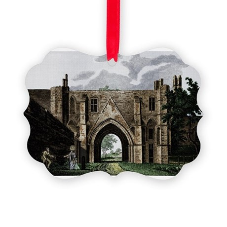 readingabbey2.png Picture Ornament