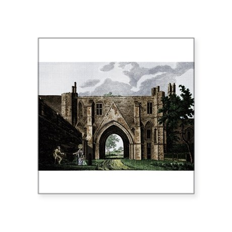 readingabbey2.png Square Sticker 3&quot; x 3&quot;
