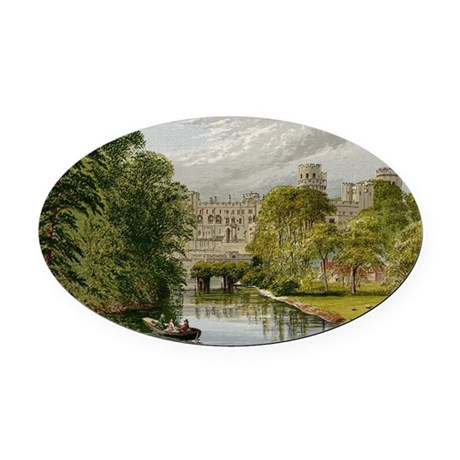warwickcastle.jpg Oval Car Magnet