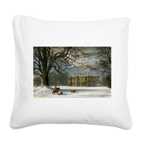 howshamhall.png Square Canvas Pillow