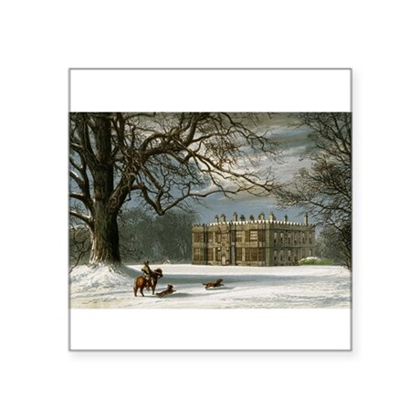 "howshamhall.png Square Sticker 3"" x 3"""