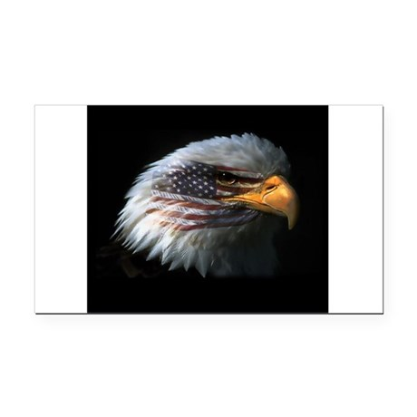 EagleRight Rectangle Car Magnet