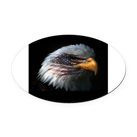 EagleRight Oval Car Magnet