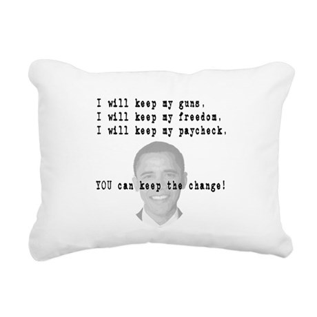 keepchange3.png Rectangular Canvas Pillow