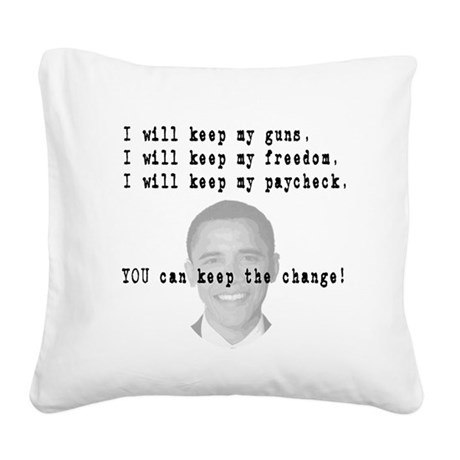 keepchange3.png Square Canvas Pillow