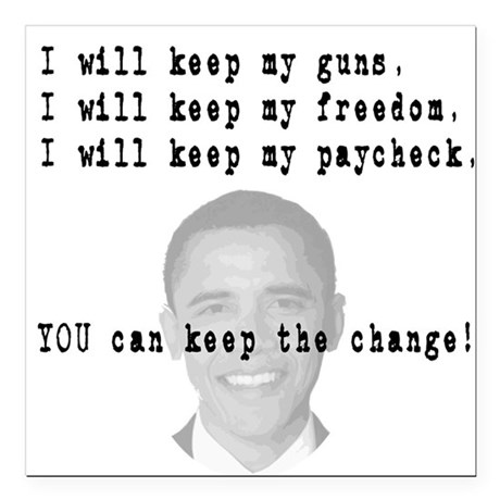 "keepchange3.png Square Car Magnet 3"" x 3"""