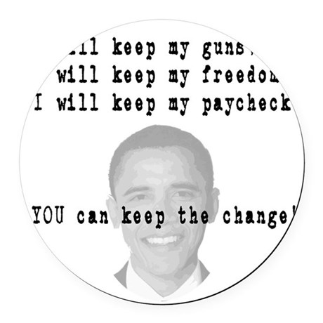 keepchange3.png Round Car Magnet
