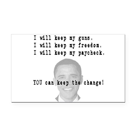 keepchange3.png Rectangle Car Magnet