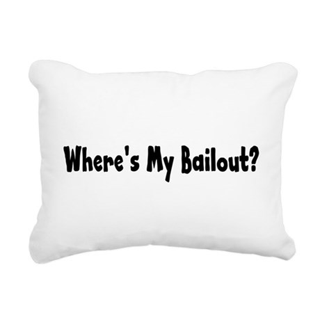 bailout2.png Rectangular Canvas Pillow