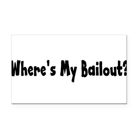 bailout2.png Rectangle Car Magnet