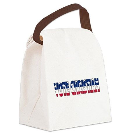 votechrist1b.png Canvas Lunch Bag