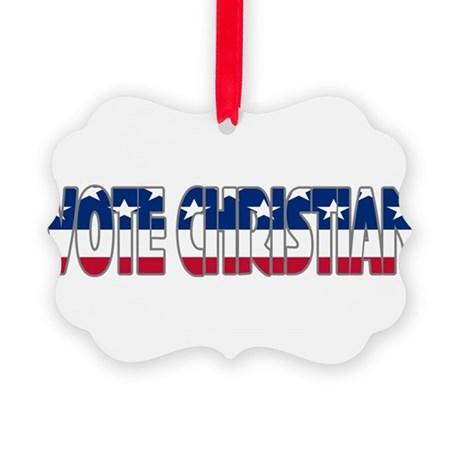 votechrist1b.png Picture Ornament
