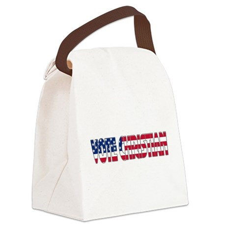 votechrist1a.png Canvas Lunch Bag
