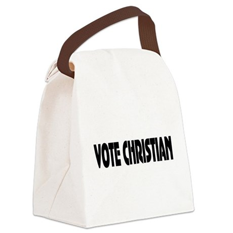 votechrist1.png Canvas Lunch Bag