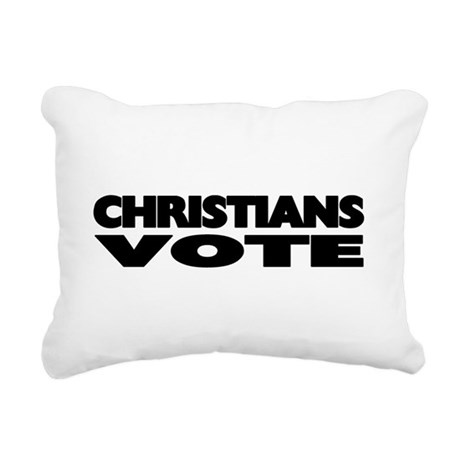 votechrist1d.png Rectangular Canvas Pillow