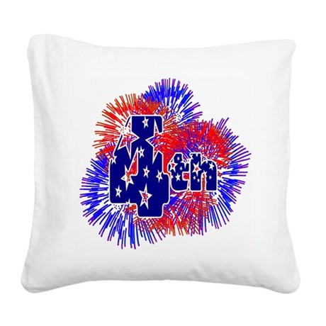 fireworks1a.png Square Canvas Pillow
