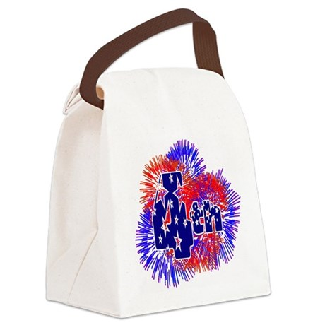 fireworks1a.png Canvas Lunch Bag