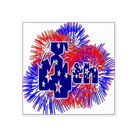 "fireworks1a.png Square Sticker 3"" x 3"""