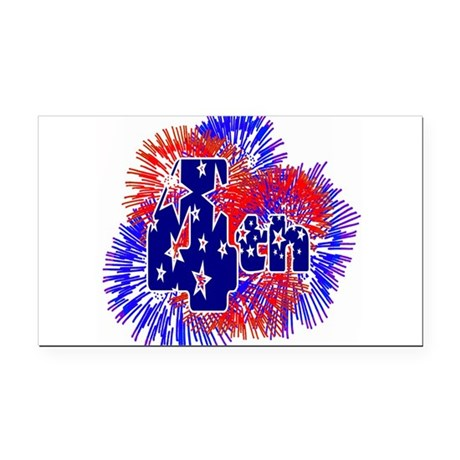 fireworks1a.png Rectangle Car Magnet