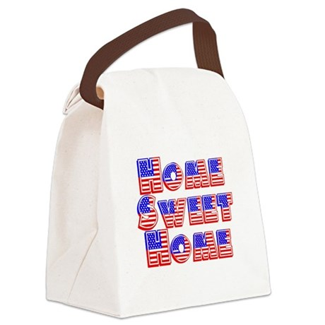 Home Sweet Home Canvas Lunch Bag